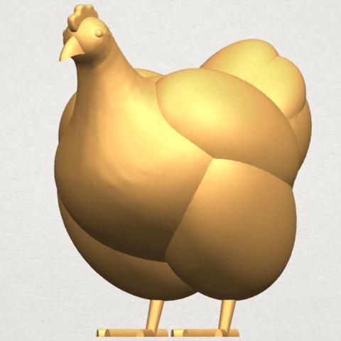 TDA0484 Hen A02.png Télécharger fichier STL gratuit Poule • Design pour imprimante 3D, GeorgesNikkei