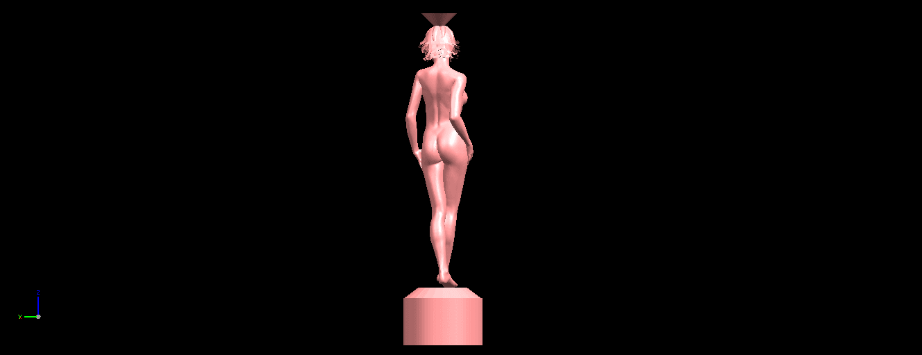 04.png Download free STL file Naked Girl with Vase on Top (i) • 3D print template, GeorgesNikkei