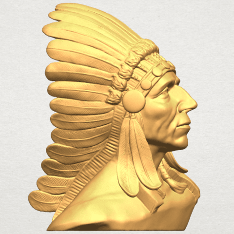 TDA0489 Red Indian 03 - Bust A06.png Download free STL file Red Indian 03 • 3D printer model, GeorgesNikkei
