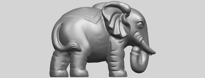 Elephant_03_-122mmA09.png Télécharger fichier STL gratuit Éléphant 03 • Modèle imprimable en 3D, GeorgesNikkei