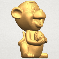 Download free 3D printing templates Cute Monkey, GeorgesNikkei