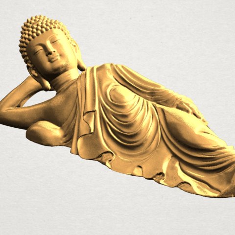 Sleeping Buddha (ii) A07.png Download free STL file Sleeping Buddha 02 • Design to 3D print, GeorgesNikkei