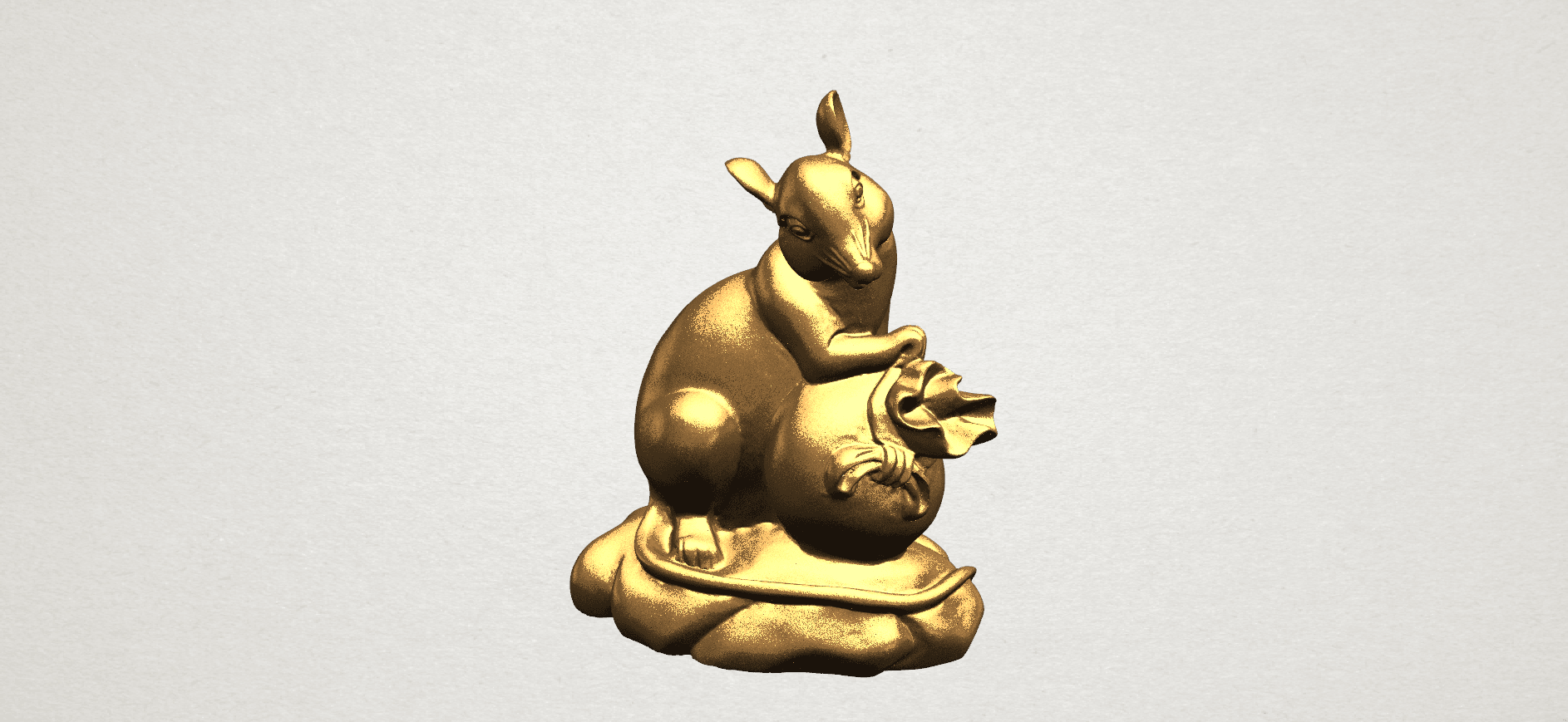 Chinese Horoscope01-01.png Download free STL file Chinese Horoscope 01 Rat • 3D printing object, GeorgesNikkei