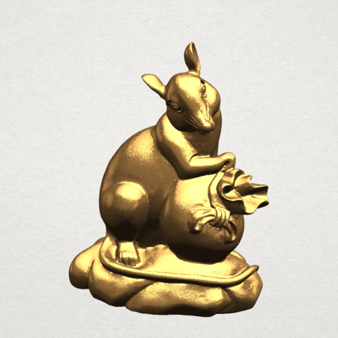 Download free 3D printer designs Chinese Horoscope 01 Rat, GeorgesNikkei