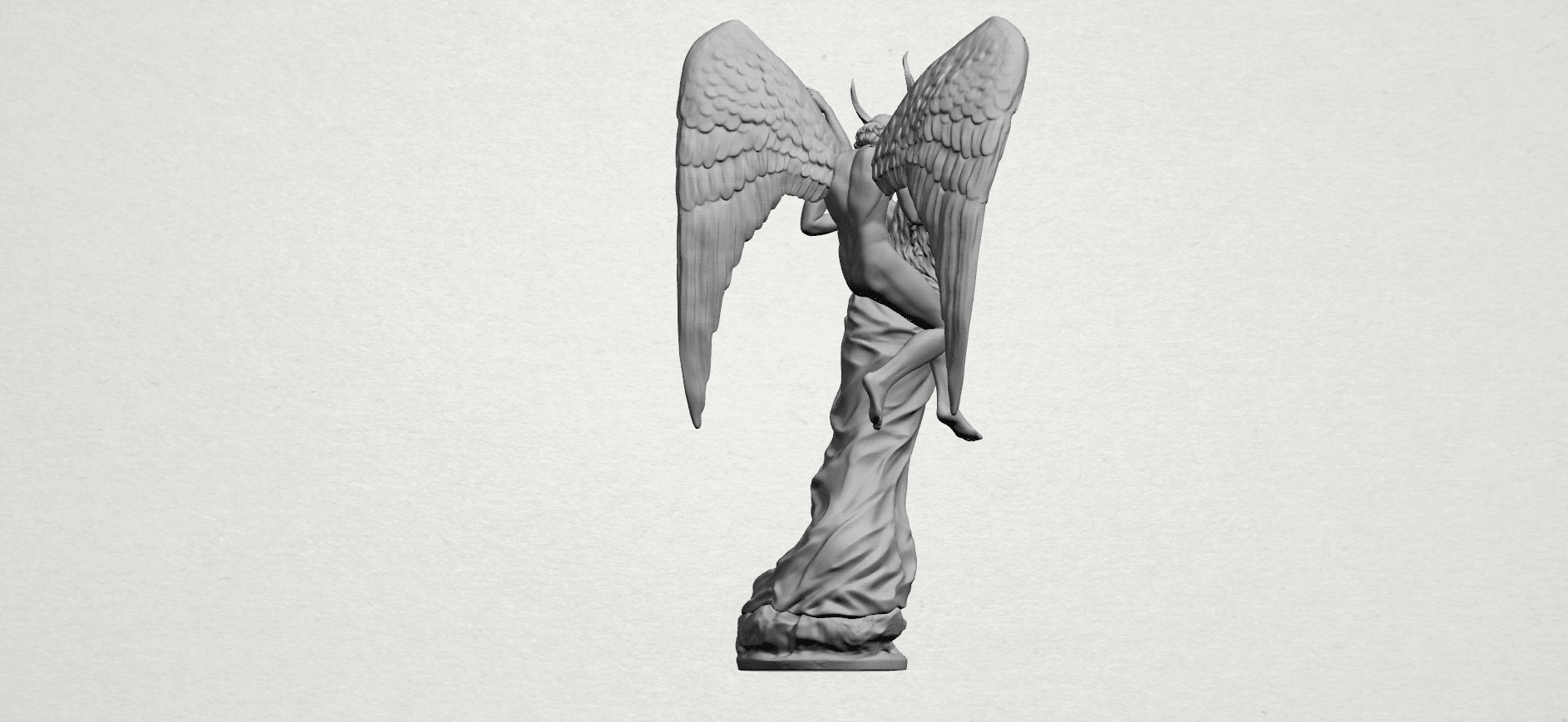 Angel and devil - A10.png Download free 3DS file Angel and devil • 3D print template, GeorgesNikkei