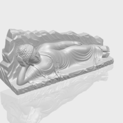 Free 3d printer model Sleeping Buddha 03, GeorgesNikkei