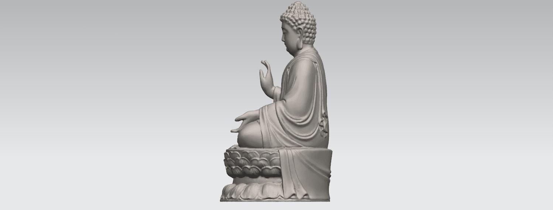 TDA0459 Gautama Buddha (iii) A03.png Download free STL file Gautama Buddha 03 • 3D printer template, GeorgesNikkei