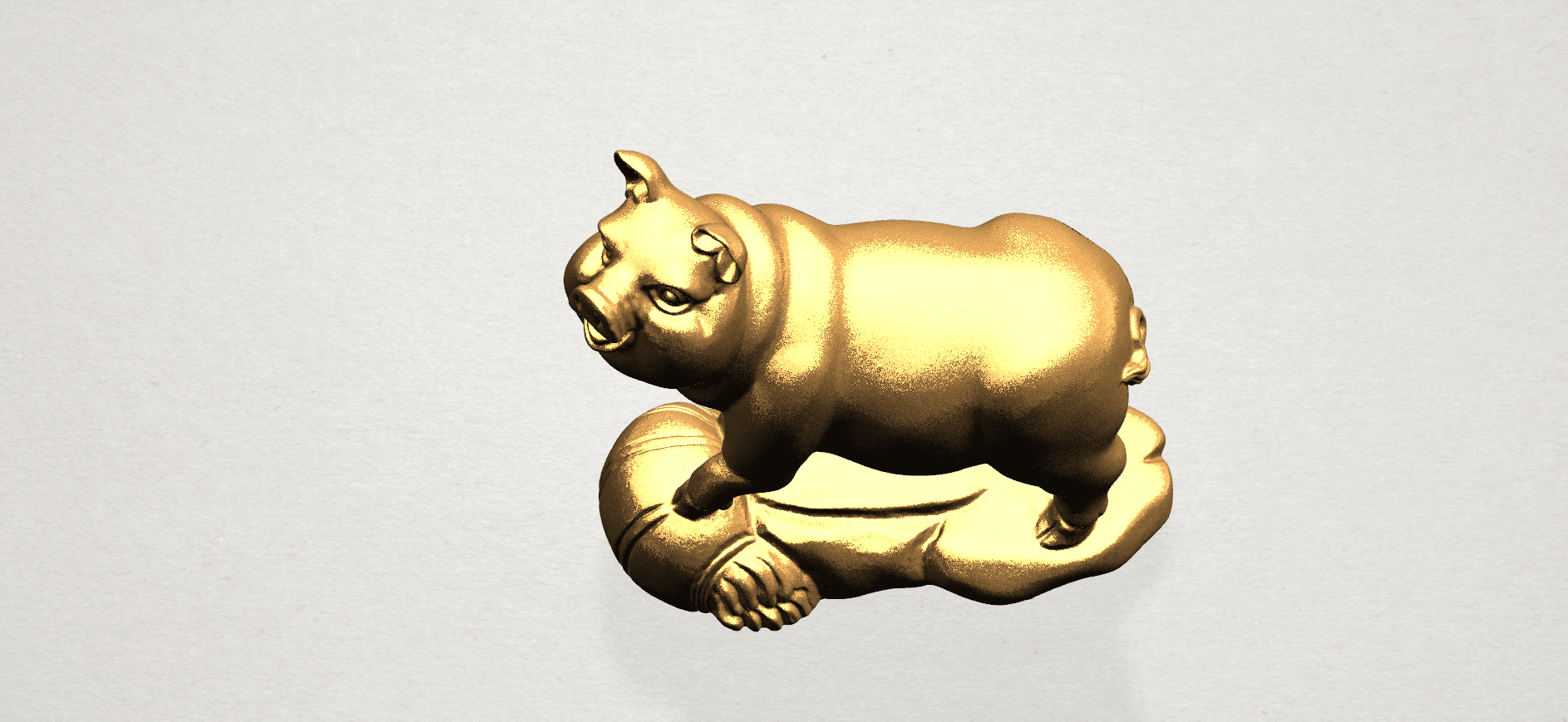 Chinese Horoscope12-B06.png Download free STL file Chinese Horoscope 12 pig • Model to 3D print, GeorgesNikkei