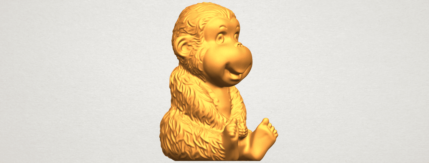 A10.png Download free STL file Monkey A01 • 3D printer model, GeorgesNikkei