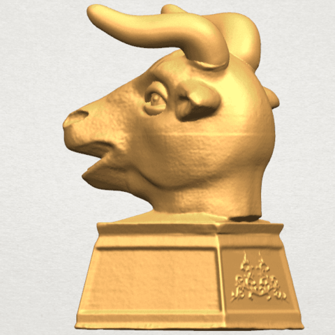 TDA0509 Chinese Horoscope of Bull 02 A03.png Download free STL file Chinese Horoscope of Bull 02 • 3D printing design, GeorgesNikkei
