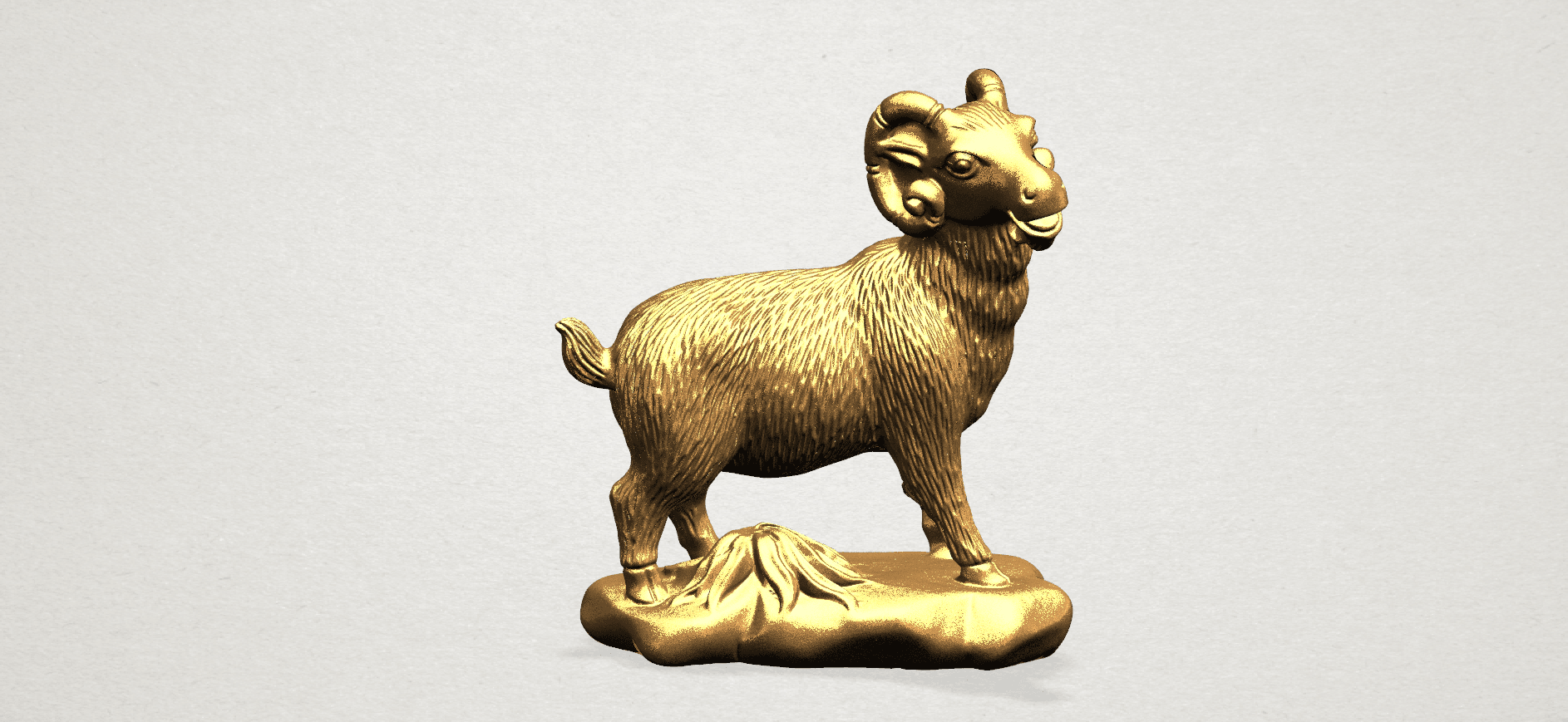 Chinese Horoscope08-B02.png Download free STL file Chinese Horoscope 08 Goat • Model to 3D print, GeorgesNikkei