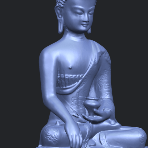 15_TDA0173_Thai_Buddha_(iii)_88mmA10.png Download free STL file Thai Buddha 03 • 3D printing object, GeorgesNikkei