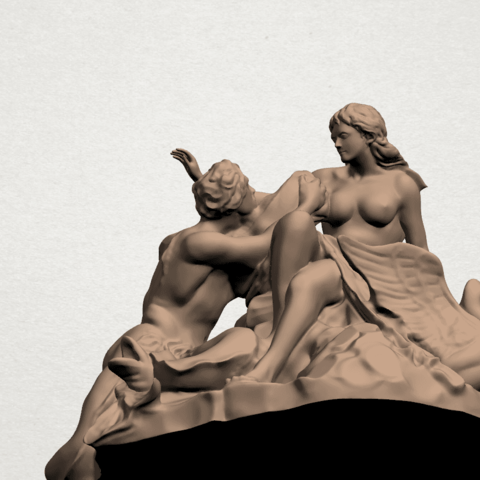 Naked Couple (vi) A08.png Download free STL file  Naked Couple 06 • 3D printing object, GeorgesNikkei