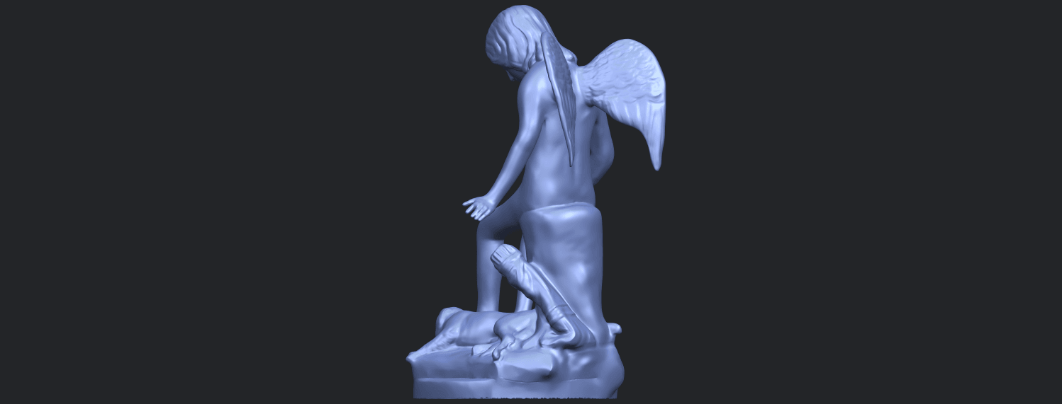 05_Angel_and_Dog_80mmB05.png Download free STL file Angel and Dog • 3D print model, GeorgesNikkei