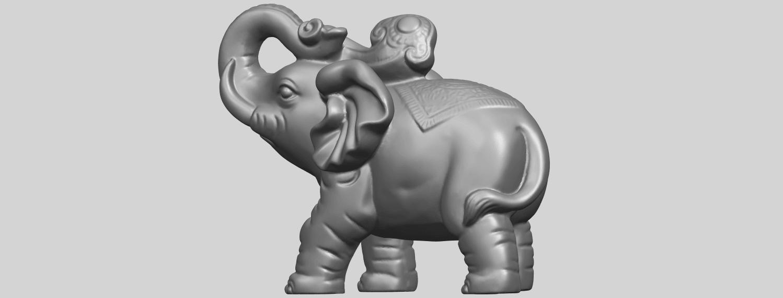 09_Elephant_02_150mmA05.png Télécharger fichier STL gratuit Eléphant 02 • Plan imprimable en 3D, GeorgesNikkei