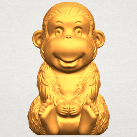 A01.png Download free STL file Monkey A01 • 3D printer model, GeorgesNikkei