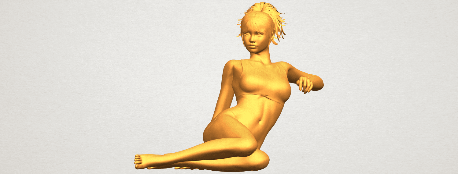 A01.png Download free STL file Naked Girl F03 • Template to 3D print, GeorgesNikkei