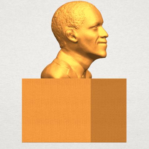 TDA0294 Obama A07.png Download free STL file Obama • 3D print model, GeorgesNikkei