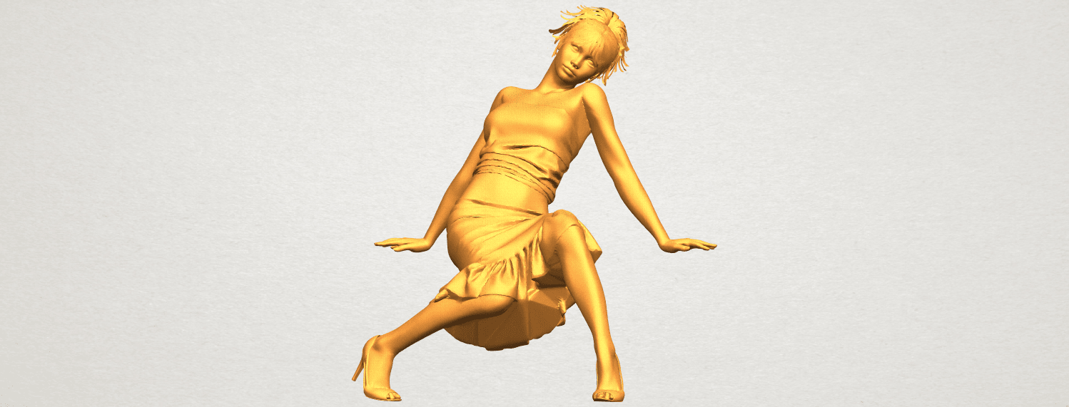 A01.png Download free STL file Naked Girl G05 • 3D printing object, GeorgesNikkei