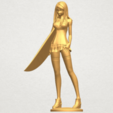 TDA0590 Girl surfing board 02 A02.png Download free STL file Girl surfing board 02 • 3D printable object, GeorgesNikkei