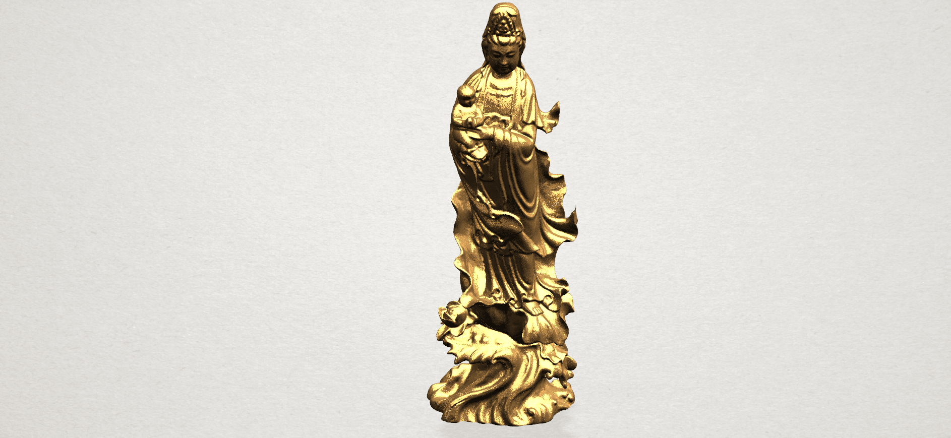 Avalokitesvara Buddha  award kid (i) A09.png Download free STL file Avalokitesvara Bodhisattva - award kid 01 • 3D print object, GeorgesNikkei