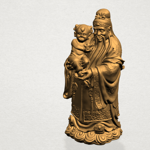 Fook (Fook Look Sao) 80mm - A07.png Download free STL file Fook (Fook Look Sao) • 3D printer template, GeorgesNikkei