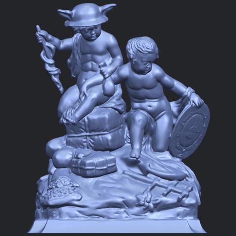23_TDA0271_Two_kids_iiB01.png Télécharger fichier STL gratuit Deux enfants 02 • Design à imprimer en 3D, GeorgesNikkei