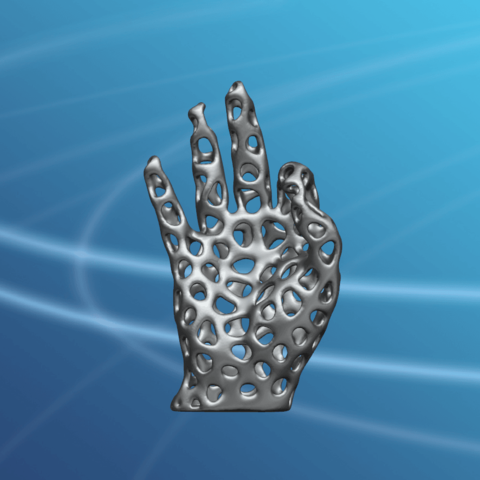 Voronoi Hand-02.png Download free STL file Voronoi Hand • Object to 3D print, GeorgesNikkei