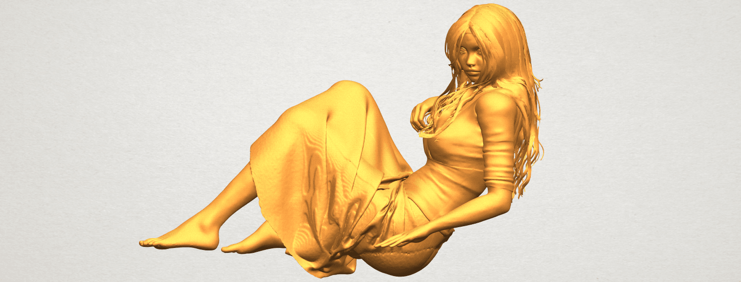 A02.png Download free STL file Naked Girl I03 • 3D printing object, GeorgesNikkei