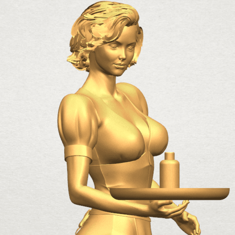 TDA0475 Beautiful Girl 09 Waitress A07.png Download free STL file Beautiful Girl 09 Waitress • 3D printable object, GeorgesNikkei