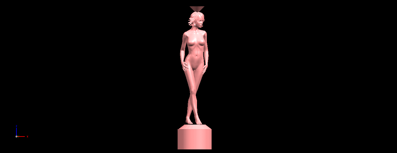 08.png Download free STL file Naked Girl with Vase on Top (i) • 3D print template, GeorgesNikkei