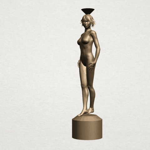 Naked girl-vase-B02.png Download free STL file Naked Girl with Vase on Top (i) • 3D print template, GeorgesNikkei