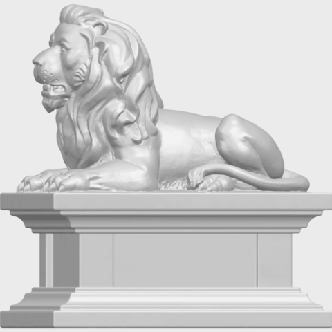 01_TDA0499_Lion_04A03.png Download free STL file Lion 04 • Template to 3D print, GeorgesNikkei
