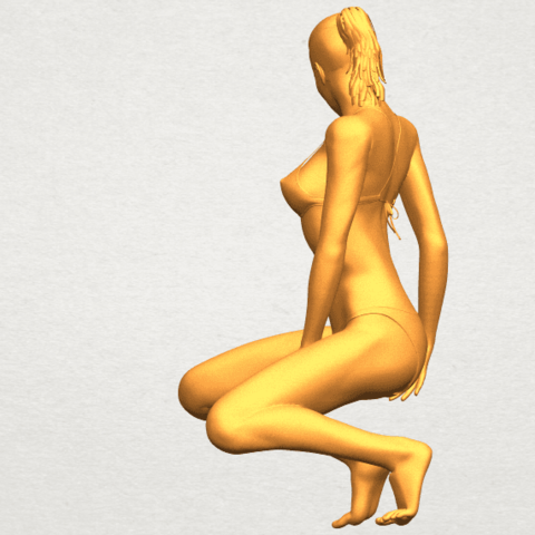 04.png Download free STL file Naked Girl D04 • 3D printable template, GeorgesNikkei