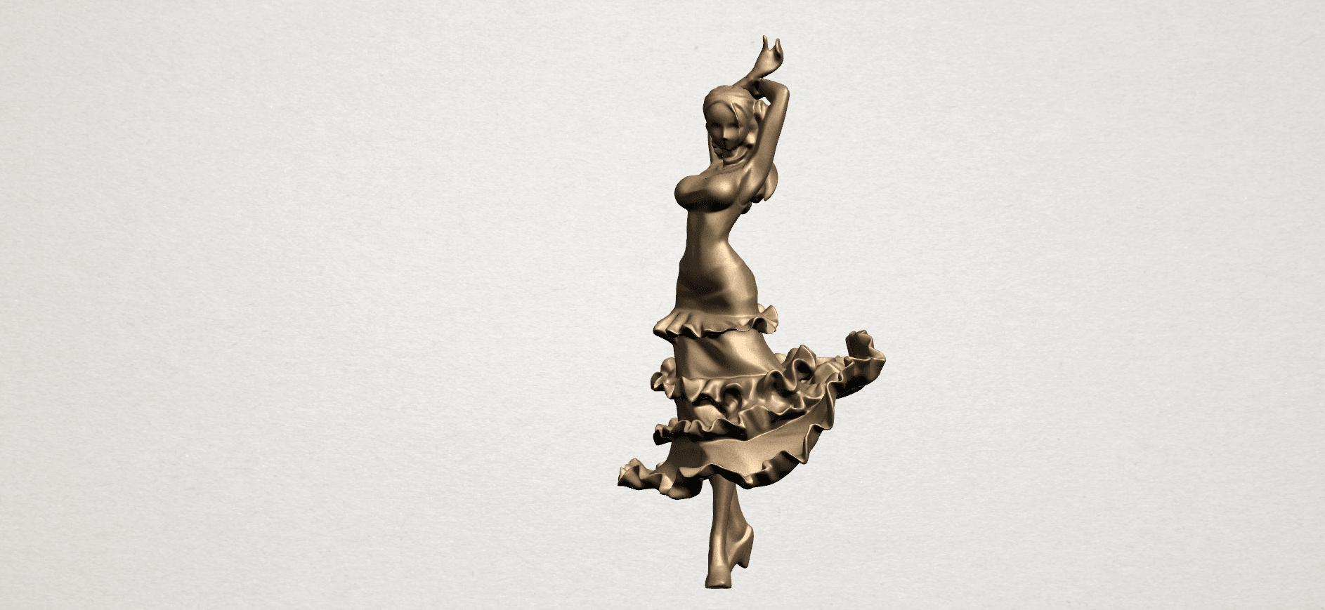Girl with Dress A02.png Download free STL file Girl with Dress • Object to 3D print, GeorgesNikkei