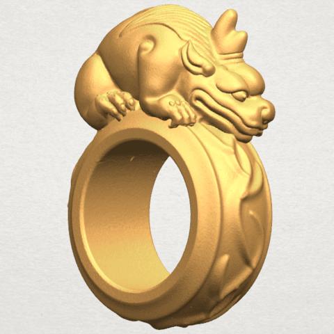 TDA0504 Pi Xiu Ring A05.png Télécharger fichier STL gratuit Bague Pi Xiu Ring • Modèle à imprimer en 3D, GeorgesNikkei