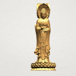Free 3D printer designs Avalokitesvara Buddha - Standing (three faces) 02, GeorgesNikkei