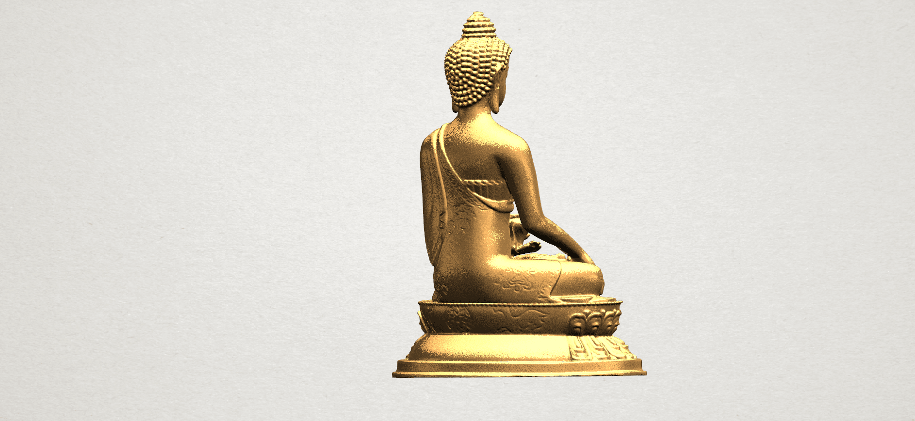 Thai Buddha (iii) A07.png Download free STL file Thai Buddha 03 • 3D printing object, GeorgesNikkei