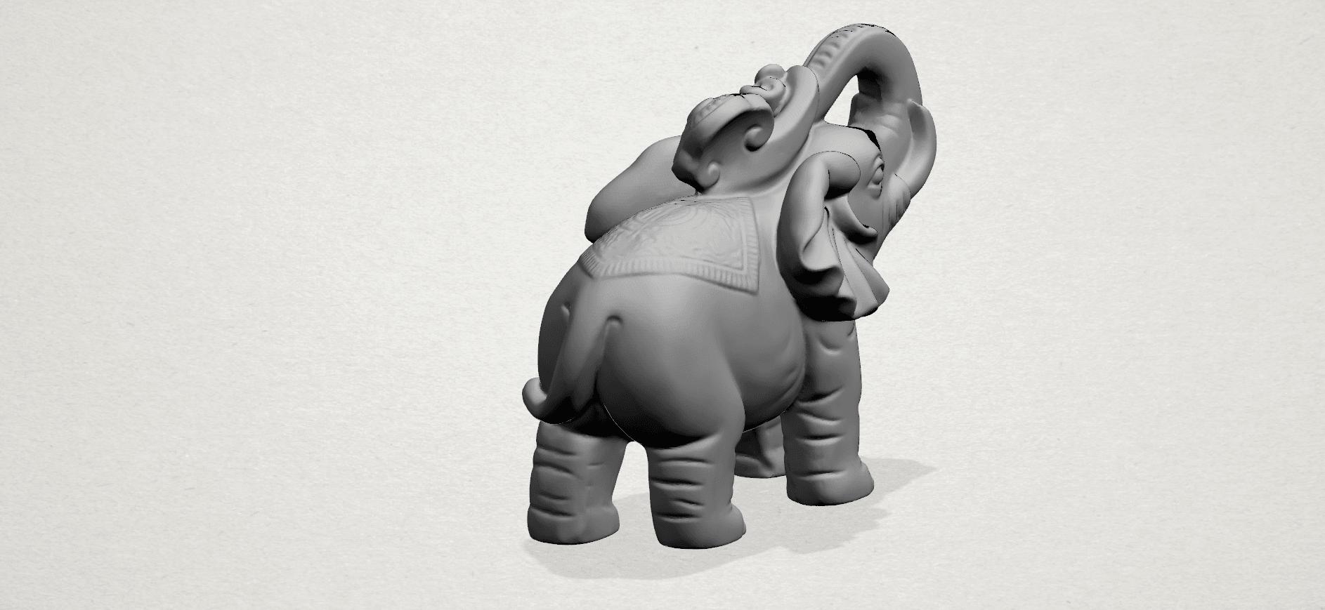 Elephant 02 -A04.png Télécharger fichier STL gratuit Eléphant 02 • Plan imprimable en 3D, GeorgesNikkei