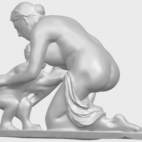 10_Mother-Child_(iv)_90mm_(repaired)A02.png Download free STL file Mother and Child 04 • 3D print template, GeorgesNikkei