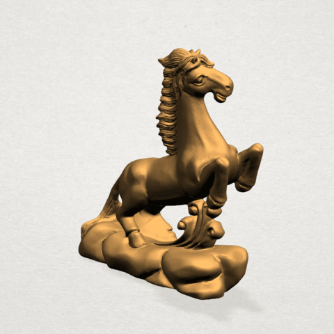 Chinese Horoscope07-A06.png Télécharger fichier STL gratuit Horoscope Chinois 07 Cheval Chinois • Design imprimable en 3D, GeorgesNikkei