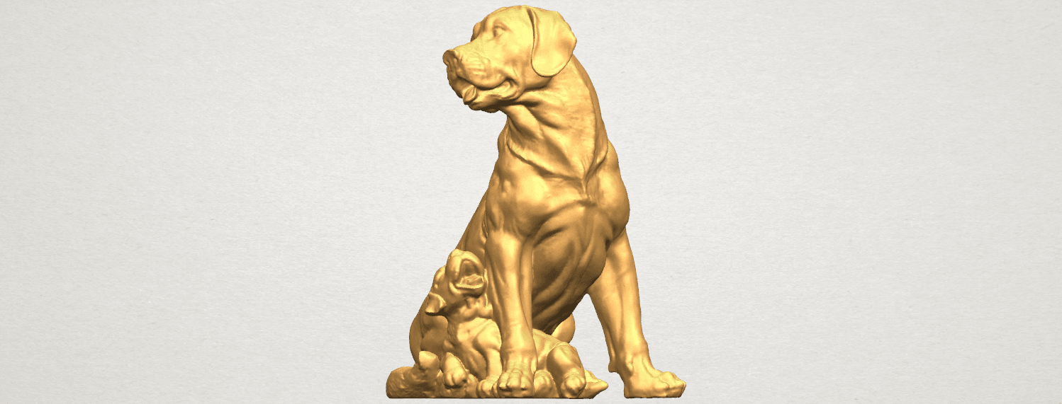 TDA0526 Dog and Puppy A04.png Download free STL file Dog and Puppy 01 • Model to 3D print, GeorgesNikkei