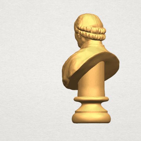 TDA0620 Sculpture of a head of man 02 A04.png Télécharger fichier STL gratuit Sculpture d'une tête d'homme 02 • Design à imprimer en 3D, GeorgesNikkei