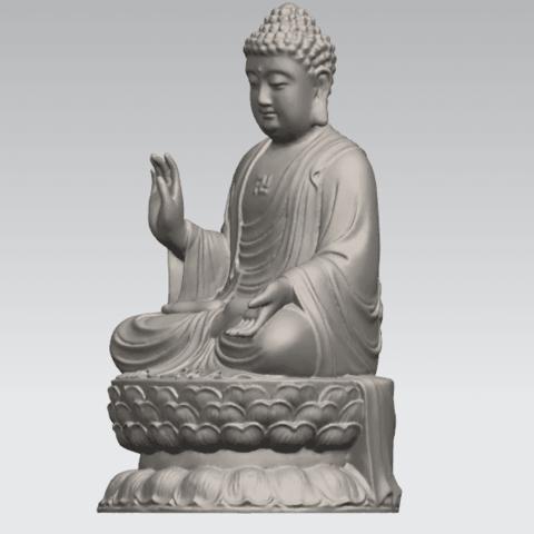 TDA0459 Gautama Buddha (iii) A02.png Download free STL file Gautama Buddha 03 • 3D printer template, GeorgesNikkei