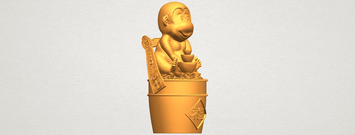 A10.png Download free STL file Monkey A05 • 3D print design, GeorgesNikkei