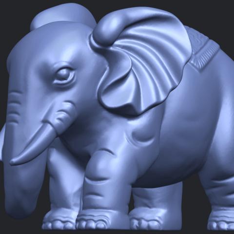Elephant_03_-122mmB03.png Télécharger fichier STL gratuit Éléphant 03 • Modèle imprimable en 3D, GeorgesNikkei
