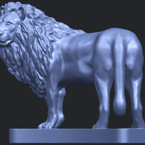 02_TDA0313_Lion_(iii)B02.png Download free STL file Lion 03 • 3D printable template, GeorgesNikkei