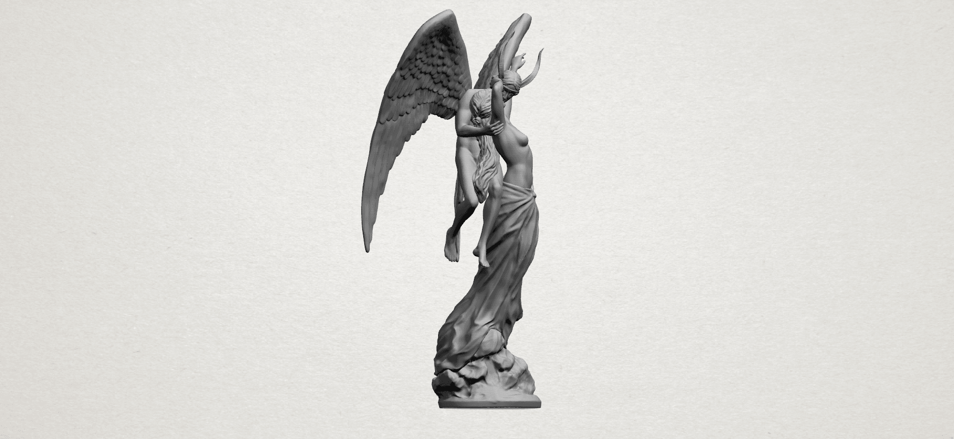 Angel and devil - A13.png Download free 3DS file Angel and devil • 3D print template, GeorgesNikkei