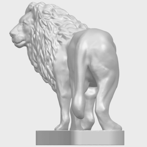 02_TDA0313_Lion_(iii)A03.png Download free STL file Lion 03 • 3D printable template, GeorgesNikkei