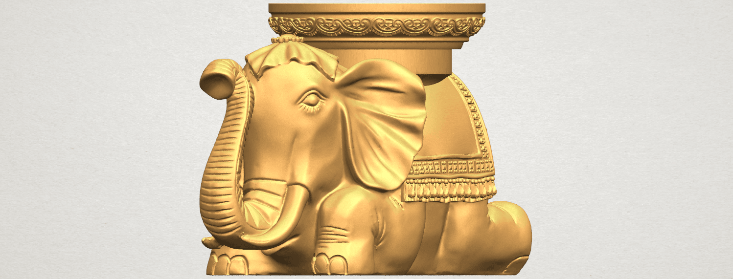 TDA0501 Elephant Table A07.png Download free STL file Elephant Table • 3D printing object, GeorgesNikkei